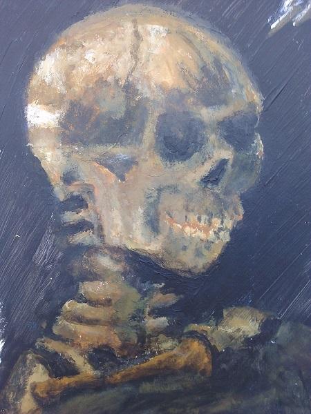 Crâne de squelette non-fumeur